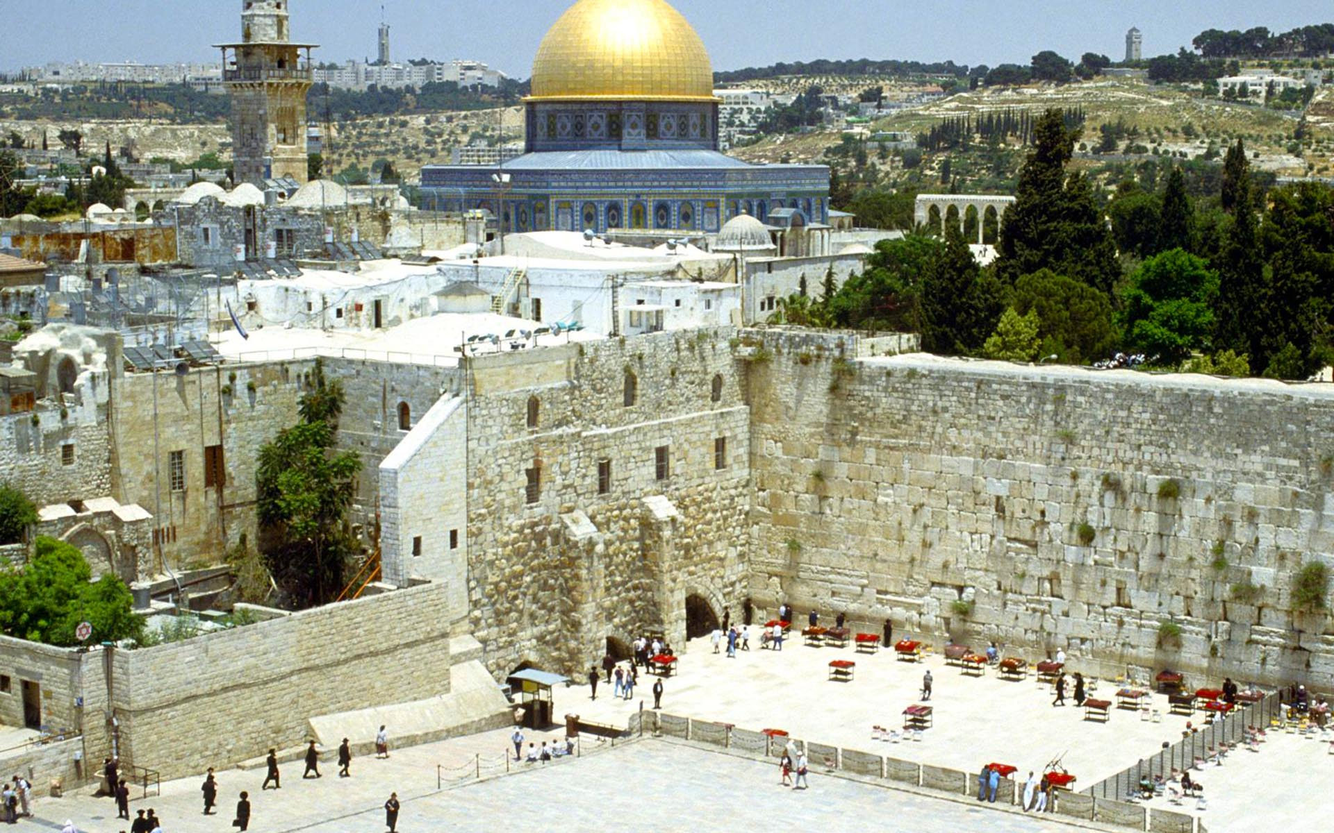 western_wall_and_omar_mosque_jerusalem_israel_wallpaper